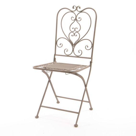 Louise Taupe Chaise Style Forgé Fer Et Salon De JardinTable DWE2Hbe9IY
