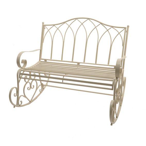 balancelle marylin style fer forg ecru am nagement d. Black Bedroom Furniture Sets. Home Design Ideas