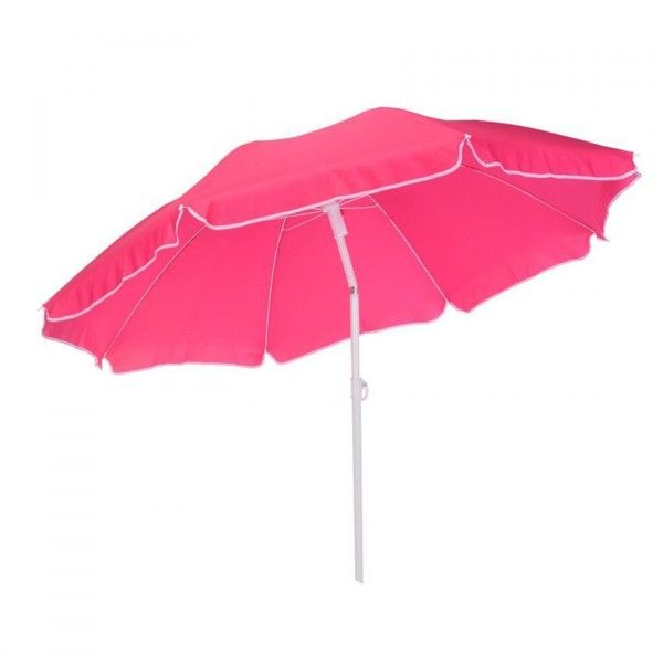 Parasol de Plage Inclinable Traditionnel - Rose