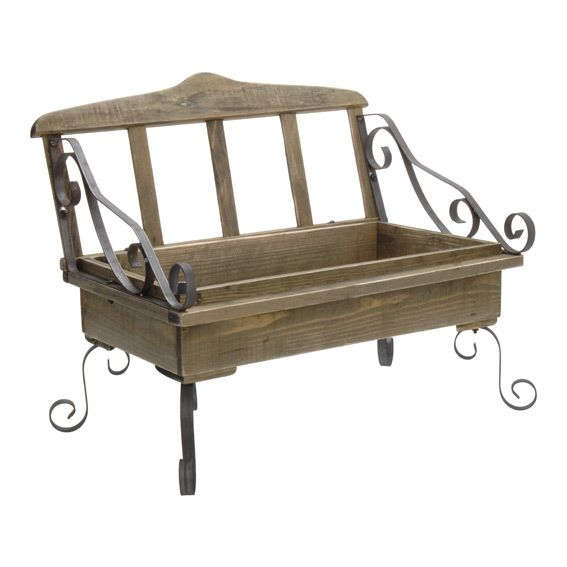 banc decoration bois 54cm. Black Bedroom Furniture Sets. Home Design Ideas