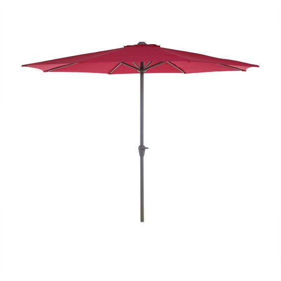 Parasol inclinable Fidji rond Framboise