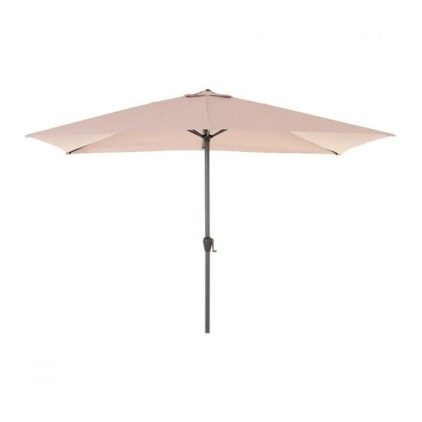 Parasol inclinable rectangulaire Fidji (3 x 2 m) - Taupe