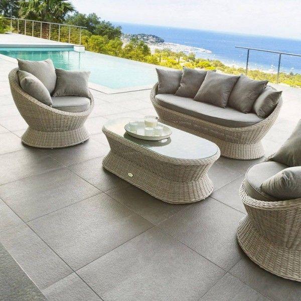 salon de jardin cocoa gr ge 4 places salon de jardin eminza. Black Bedroom Furniture Sets. Home Design Ideas