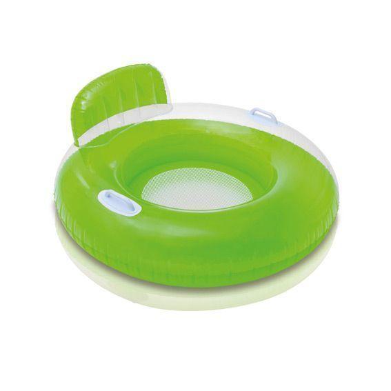 Fauteuil gonflable baguy rond avec poign vert - Matelas gonflable rond ...