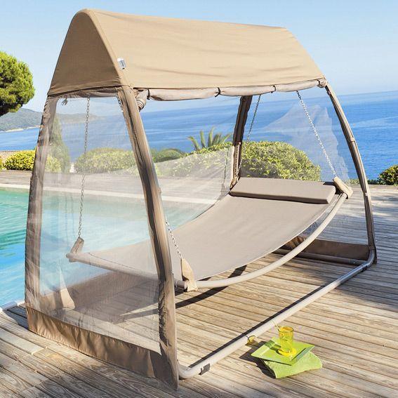 toile de balancelle trinidad taupe structure toile et. Black Bedroom Furniture Sets. Home Design Ideas