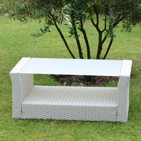 Table basse de jardin Ibiza - Blanc
