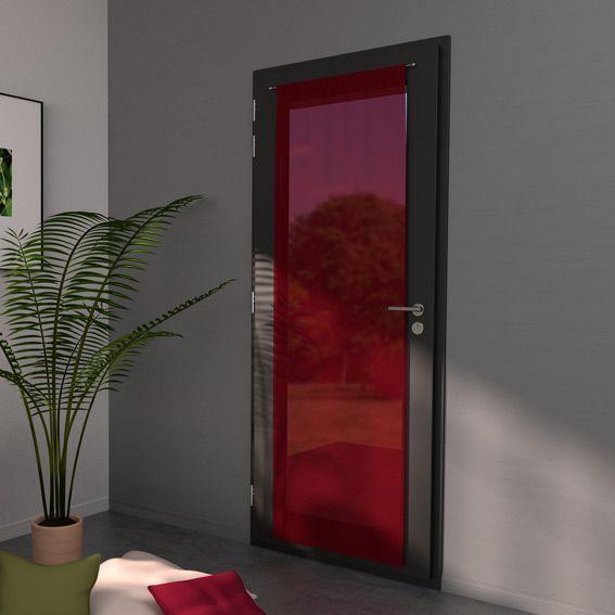 voilage passe tringle largeur 70 cm classico rouge eminza. Black Bedroom Furniture Sets. Home Design Ideas