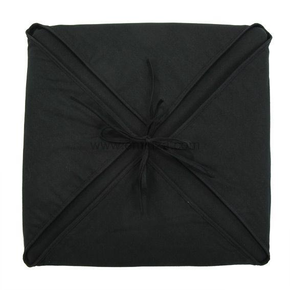 Galette De Chaise Carre Gamme Panama Noir