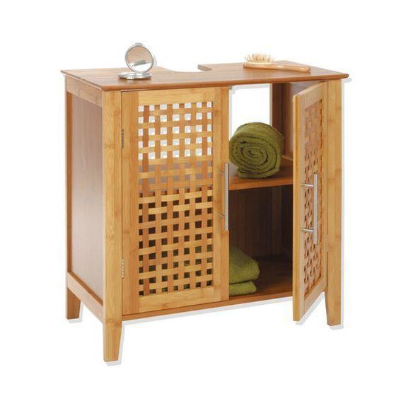 meuble dessous lavabo bambou dessous lavabo eminza. Black Bedroom Furniture Sets. Home Design Ideas