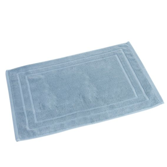 tapis de bain coton vita bio bleu tapis de bain eminza. Black Bedroom Furniture Sets. Home Design Ideas