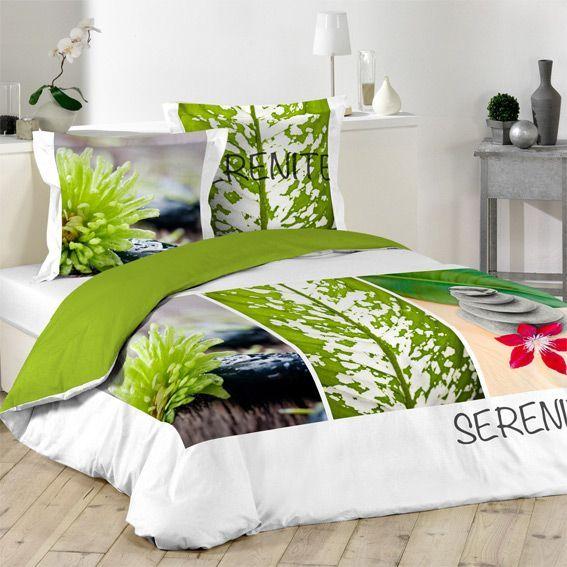 housse de couette style zen linge de lit eminza. Black Bedroom Furniture Sets. Home Design Ideas