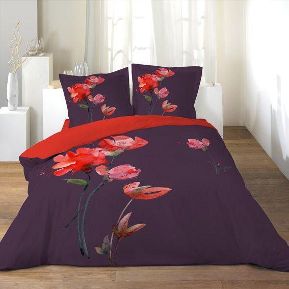 housse de couette et deux taies 240 cm exquise. Black Bedroom Furniture Sets. Home Design Ideas