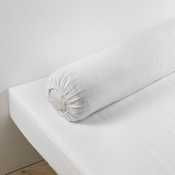 prot ge traversin 145 cm molleton blanc linge de lit eminza. Black Bedroom Furniture Sets. Home Design Ideas