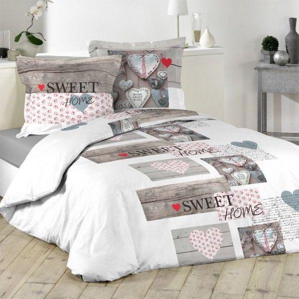 linge de lit style montagne eminza. Black Bedroom Furniture Sets. Home Design Ideas