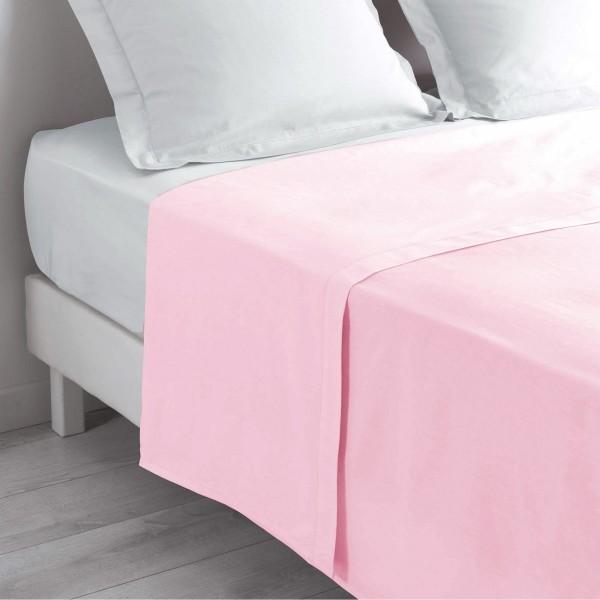 Drap plat coton (240 cm) Lina Rose dragée
