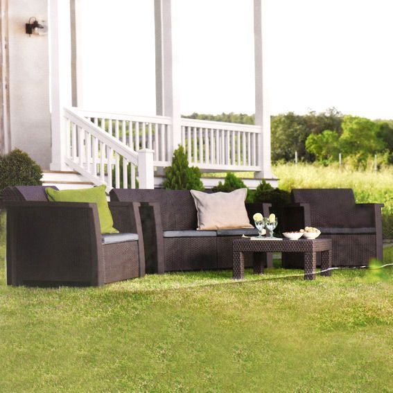 Salon de jardin Keter Vegas Anthracite - 4 places