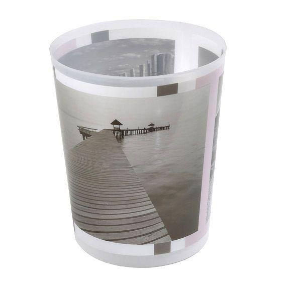 Poubelle seaside gris accessoire salle de bain eminza - Accessoire salle de bain gris ...