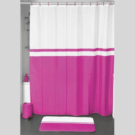 rideau de douche velours bicolore fuchsia premium. Black Bedroom Furniture Sets. Home Design Ideas