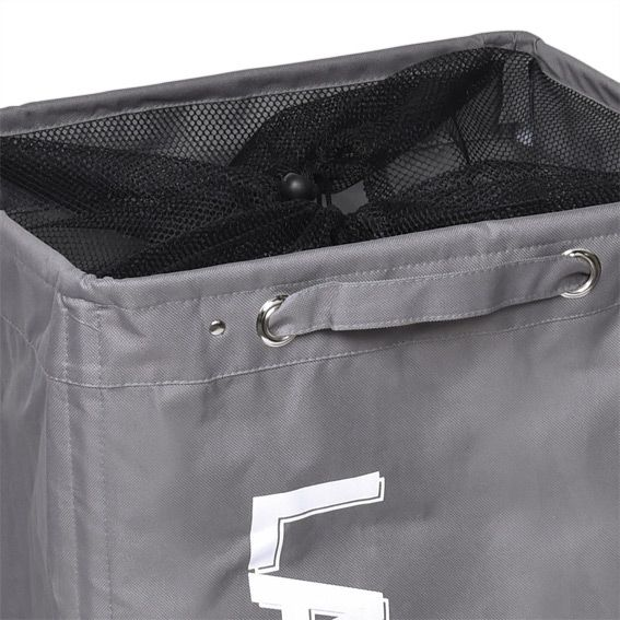 panier linge sur roulettes gris rangement eminza. Black Bedroom Furniture Sets. Home Design Ideas