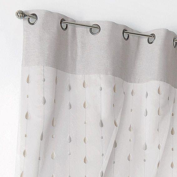 Rideau (135 x 260 cm) Pampille Ficelle - Rideau / Voilage / Store ...