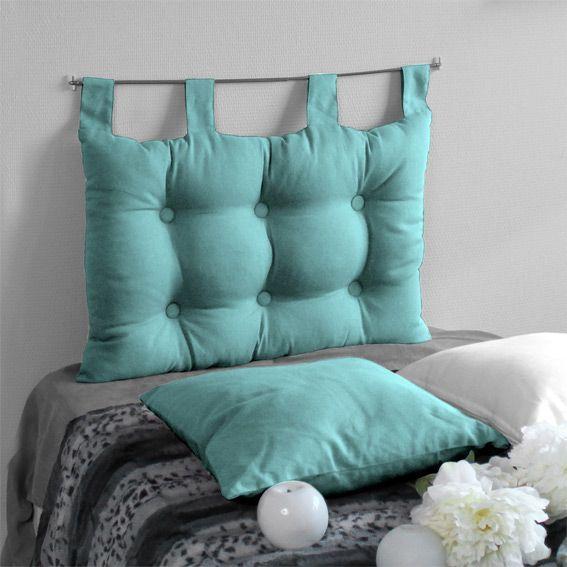 T�te de lit (60 cm) Capiton Turquoise