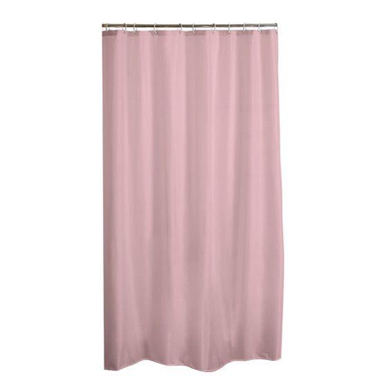 Rideau de douche vita rose p le accessoire douche baignoire eminza for Rideau occultant rose pale