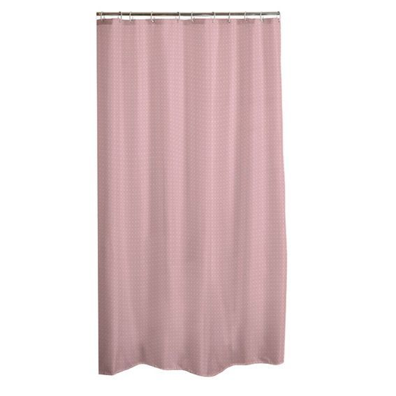Rideau de douche vita rose p le premium accessoire douche baignoire eminza for Rideau occultant rose pale