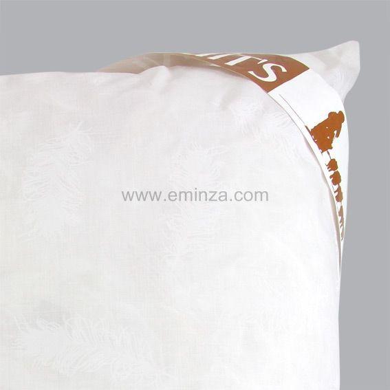 oreiller 60 cm plume blanc linge de lit eminza. Black Bedroom Furniture Sets. Home Design Ideas