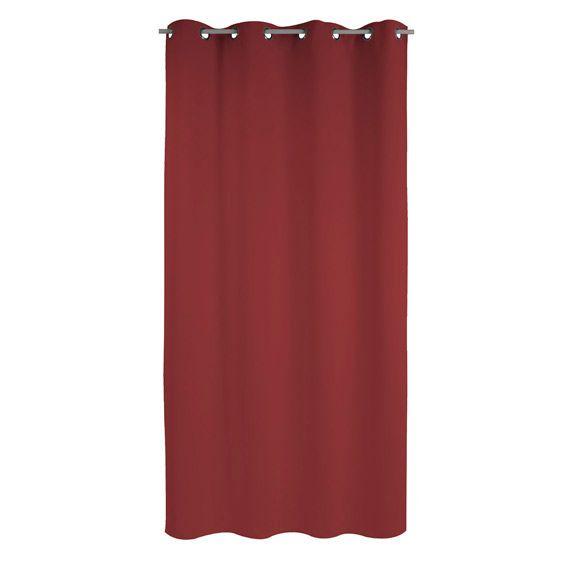 Rideau Anti-bruit (135 x H250 cm) Chut Rouge - Rideau / Voilage ...