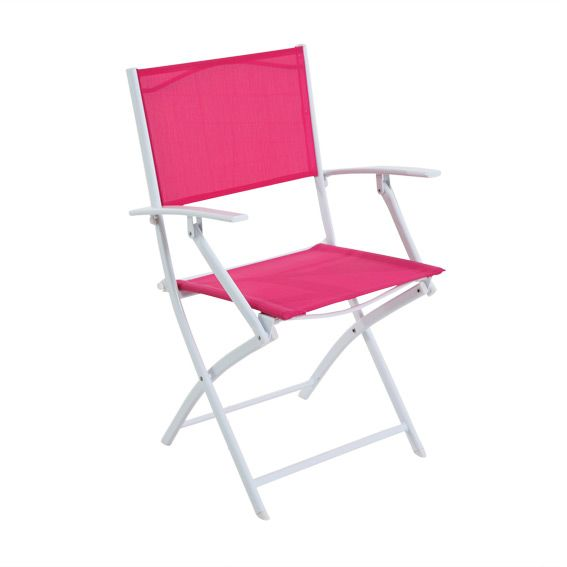 fauteuil de jardin pliant modula fuchsia blanc chaise et fauteuil de jardin eminza. Black Bedroom Furniture Sets. Home Design Ideas