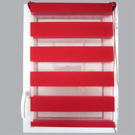 store enrouleur 45 x 180 cm jour nuit rouge rideau. Black Bedroom Furniture Sets. Home Design Ideas