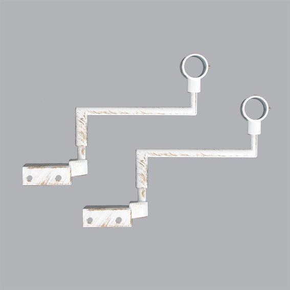 Lot de 2 supports sans perçage Blanc