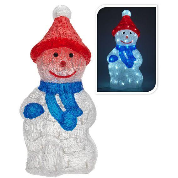 bonhomme de neige lumineux sandy blanc froid 60 led personnage animaux et objet lumineux eminza. Black Bedroom Furniture Sets. Home Design Ideas