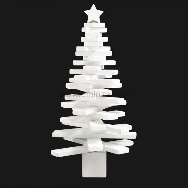 Sapin de table décoratif Moderny H30 cm Blanc