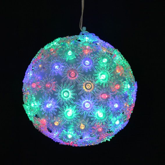 Boule lumineuse � suspendre 100 LED Multicolore
