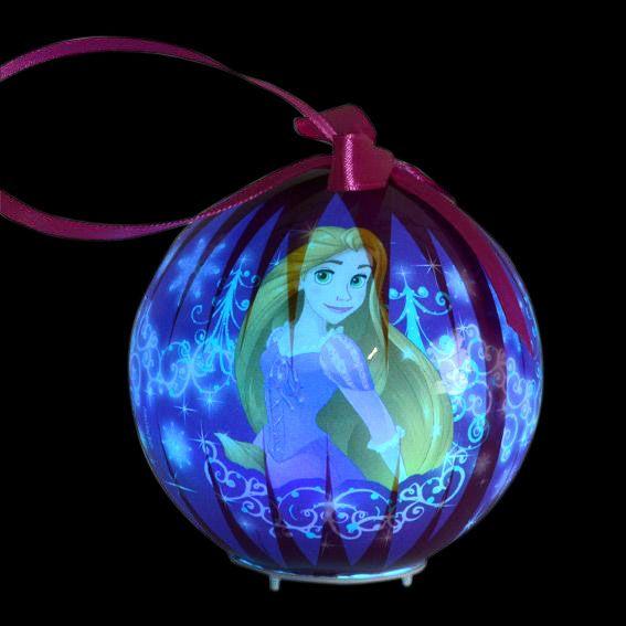 Boule de no l lumineuse disney princesses boule et d co - Boule noel disney ...