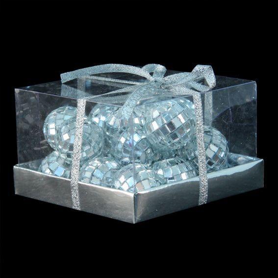 Lot de 20 boules de No�l (D20 mm) Miroir Argent