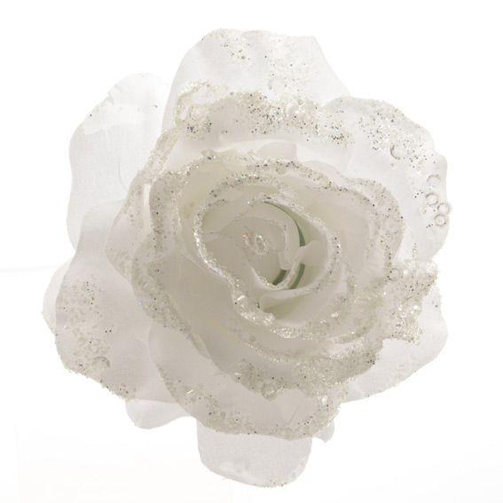 Albero Di Natale Rosa.Fiore Di Natale Rosa Con Clip Bianco