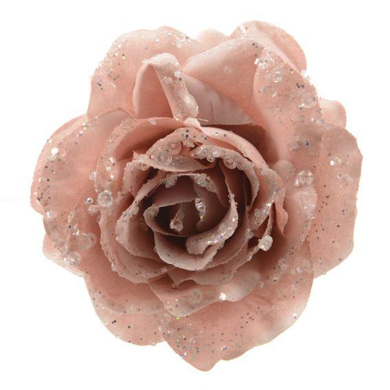 Immagini Di Fiori Di Natale.Fiore Di Natale Rosa Con Clip Rosa Cipria