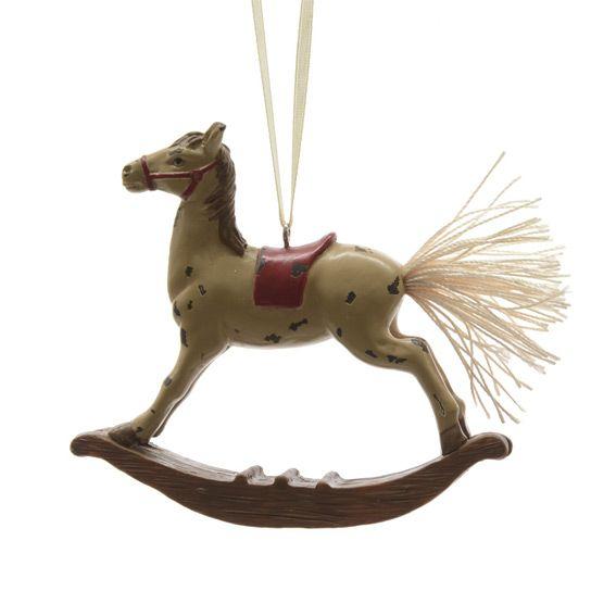 Cavallo A Dondolo Legno Natale.Cavallo A Dondolo Di Natale Crema