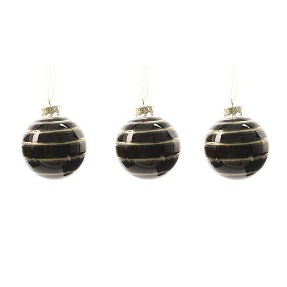 d6c5d8b8e1e Lote de 3 bolas de Navidad (diámetro 70 mm) Golden Black - Bola y ...