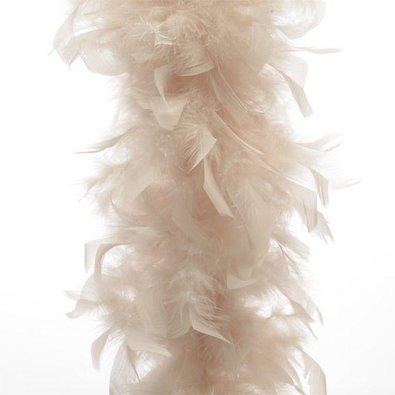Guirlande de No�l Boa en plume Perle