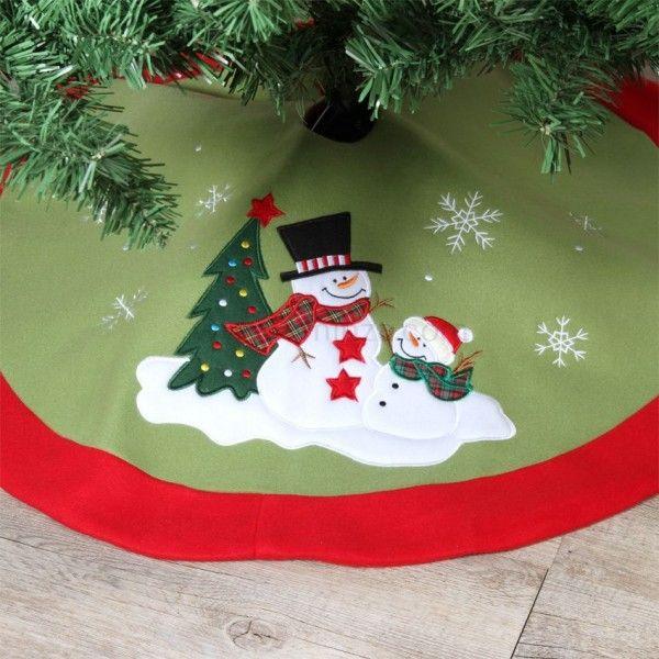 tapis de sapin rond teddy bonhomme de neige sapin et. Black Bedroom Furniture Sets. Home Design Ideas