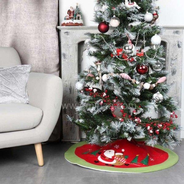 tapis de sapin rond teddy p re no l accessoire pour sapin eminza. Black Bedroom Furniture Sets. Home Design Ideas