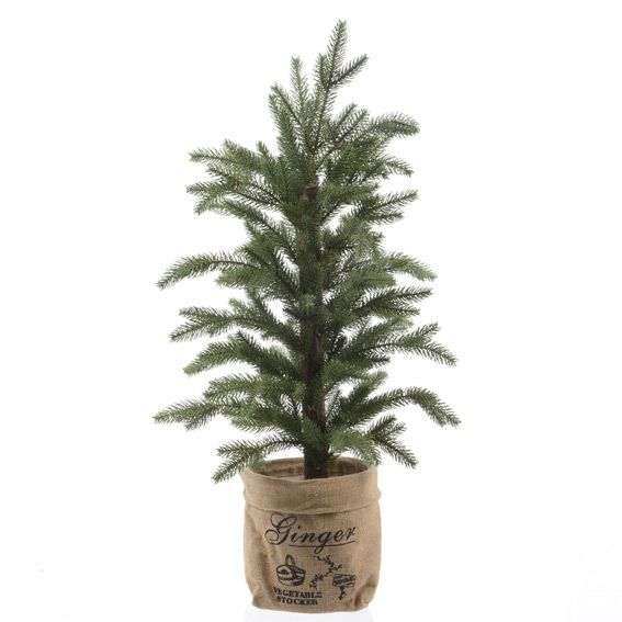 Sapin artificiel de table Ginger H60 cm Vert sapin