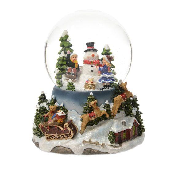 boule a neige noel Boule à neige lumineuse Magie de Noël   Village de Noel   Eminza boule a neige noel