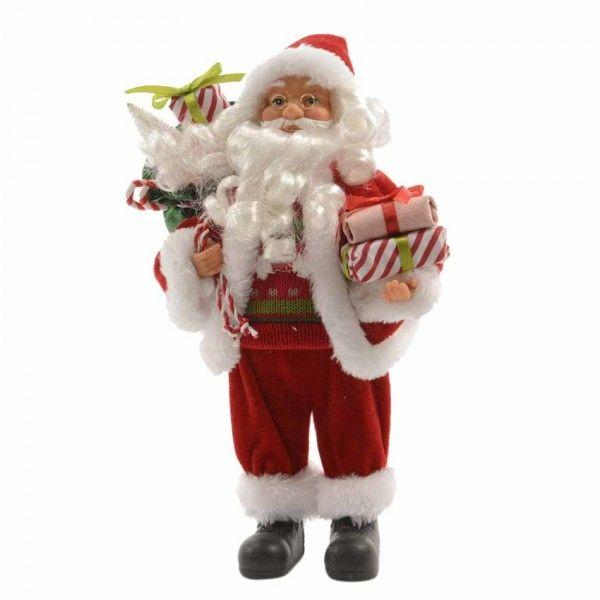 Babbo Natale 50.Babbo Natale Alphonse Gran Formato Alt 50 Cm Decoro Di Natale Per La Casa Eminza