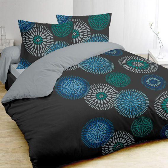 Housse de couette linge de lit eminza for Housse de couette deux personnes