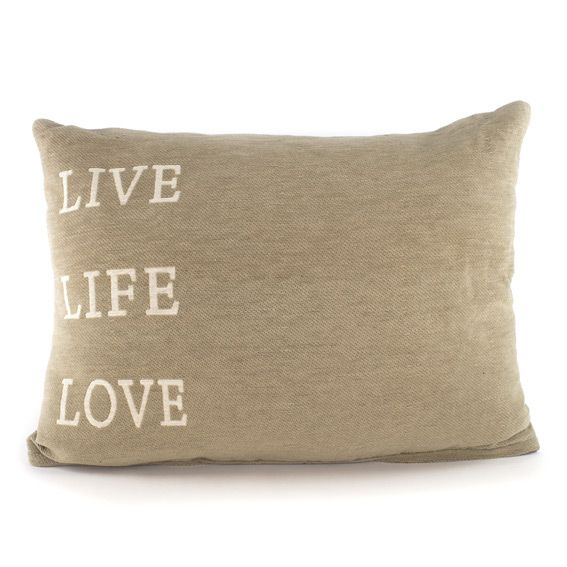 Coussin rectangulaire Live Beige