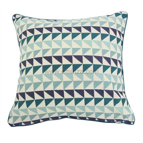 housse de coussin aztec vert eau 85 40x40 41389. Black Bedroom Furniture Sets. Home Design Ideas